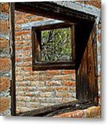 Window Geometry At Alamo Ranch Metal Print