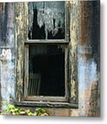 Window In Old Wall Metal Print by Jill Battaglia