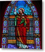 Window In Trinity Church Iv Metal Print