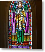 Window In Trinity Church V Metal Print by Steven Ainsworth