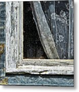 Window Of Old Abandoned Building Metal Print