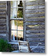 Window On Prairie Life Metal Print