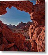 Window On The Valley Of Fire Metal Print