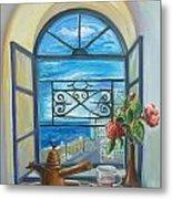window to Jaffa Metal Print