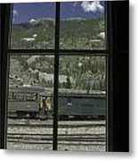 Window To The Rail Yard Metal Print