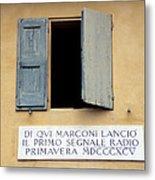 Window Where Marconi Transmitted Radio Metal Print