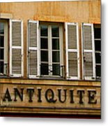 Windows Of Antiquites Metal Print