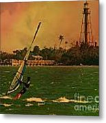 Windsurfer In Paradise Metal Print