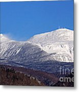 Windy Day At Mt Washington Metal Print