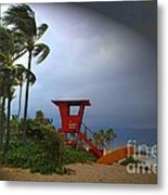 Windy Day In Haleiwa Metal Print