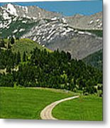 Windy Road To The Crazy Mountains Metal Print
