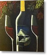 Wine And A Little More Metal Print