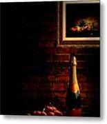Wine And Grape Metal Print
