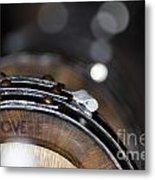 Wine Barrels In Oak Metal Print
