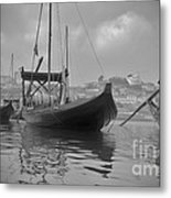 Wine Boats On Douro Metal Print