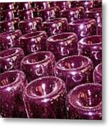 Wine Bottle Abstract Metal Print
