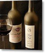 Wine Bottles Metal Print by David Campione