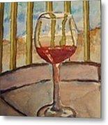 Wine By The Water Metal Print