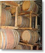 Wine Casks Metal Print