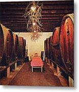Wine Cellar Metal Print by Benjamin Matthijs