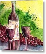 Wine For Two - 2 Metal Print