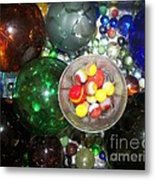 Wine Glass And Marbles Metal Print
