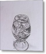 Wine Glass Metal Print