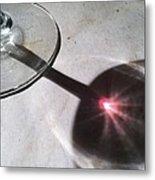 Wine Glass Reflection Metal Print by Anna Villarreal Garbis