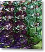 Wine Goblets Metal Print