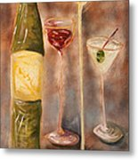 Wine Or Martini? Metal Print