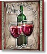 Wine Poetry Metal Print