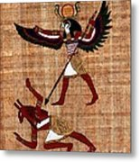 Winged Horus Defeating Set Metal Print by Pet Serrano