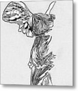 Winged Victory Of Samothrace Metal Print