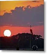 Wings At Rest Under The Sunset Metal Print