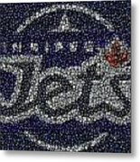 Winnipeg Jets Puck Mosaic Metal Print