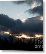 Winter Afternoon Clouds Metal Print