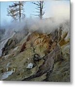 Winter At Yellowstone's Mammoth Terrace Metal Print