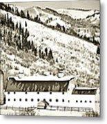 Winter Barn 1 Metal Print