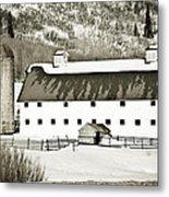 Winter Barn 2 Metal Print