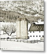 Winter Barn 3 Metal Print