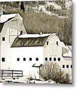 Winter Barn 4 Metal Print