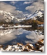 Winter Dawn Reflection Of Mount Metal Print by Colin Monteath