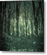 Winter Forest At Twilight Metal Print