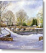 Winter In Ashford Xmas Card Metal Print