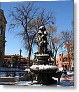 Winter In Cathedral Park Santa Fe Metal Print