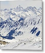 Winter In The Alps - Snow Covered Mountains Metal Print