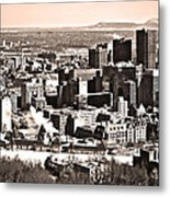 Winter In The City ... Metal Print