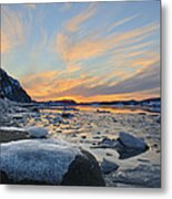 Winter In The Harbour Metal Print