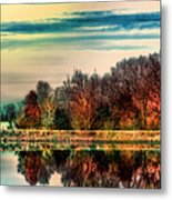 Winter Lake Fantasm Metal Print