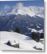 Winter Landscape In The Mountains Metal Print